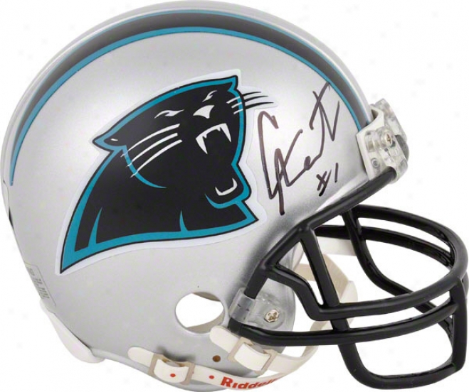 Cam Newton Autographed Mini Helmet  Details: Carolina Panthers