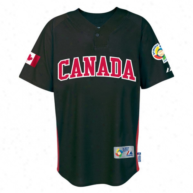 Canada 2009 Wbc Cool Base Batting Practuce Jersey