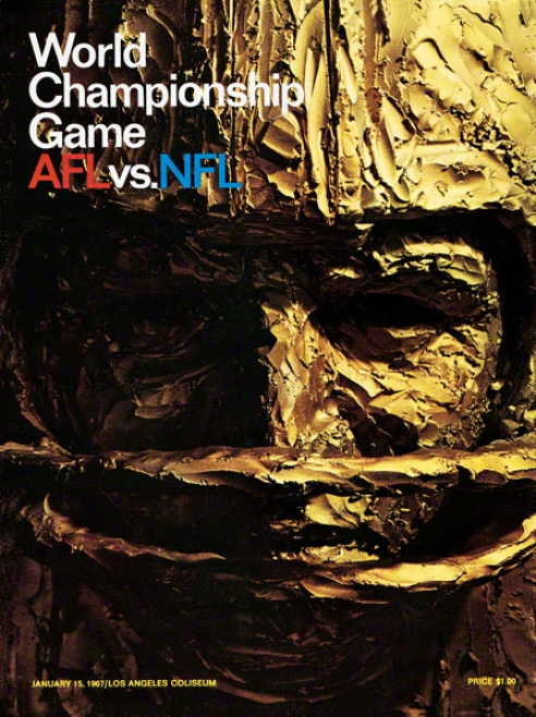 Canvas 22 X 30 Super Bowl I Program Print  Details: 1967, Packers Vs Chiefs