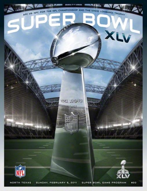 Canvas 22 X 30 Super Bowl Xlv Program Print  Details: 2011, Packers Vs Steelers