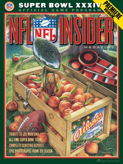 Canvas 22 X 30 Super Bowl Xxxiv Program Print  Details: 2000, Rams Vs Titans