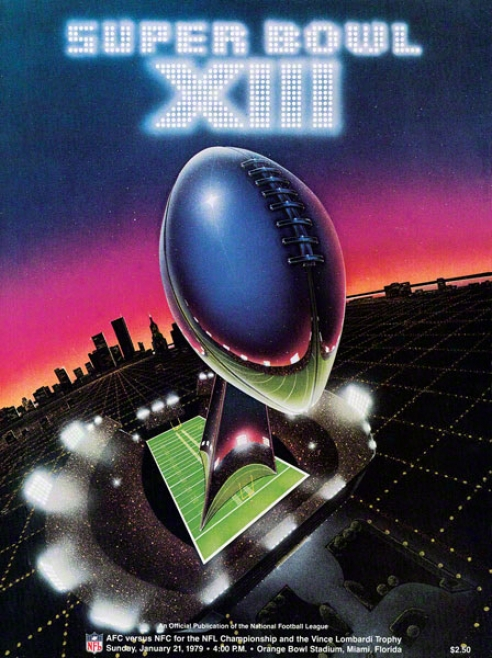 Canvas 36 X 48 Super Bowl Xiii Program Print  Details: 1979, Steepers Vs Cowboys