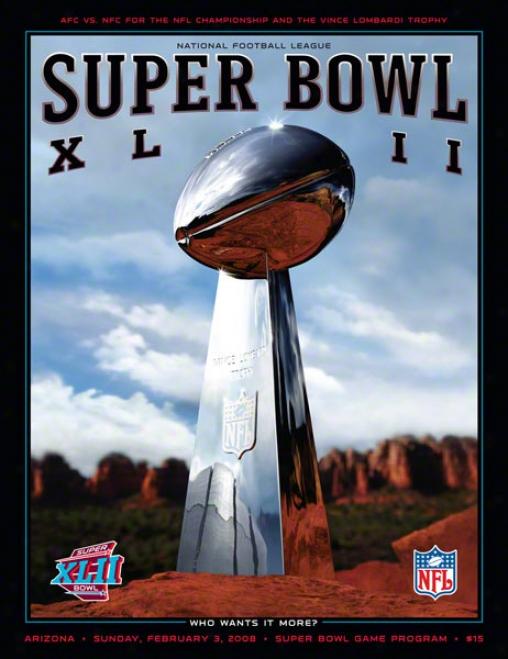 Canvas 36 X 48 Super Bowl Xlii Program Print  Details: 2008, Giants Vs Patriots