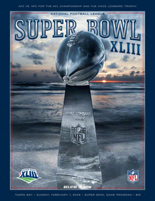 Canvas 36 X 48 Super Bowl Xliii Program Print  Details: 2009, Steelers Vs Cardinals