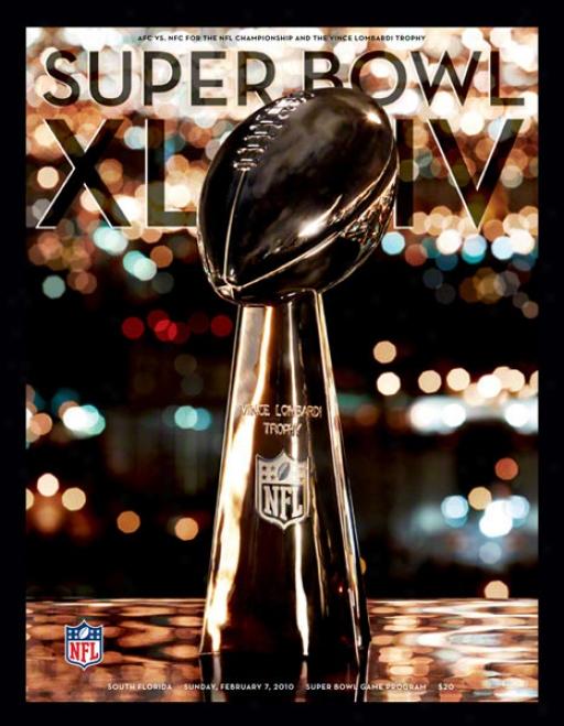 Canvas 36 X 48 Super Bowl Xliv Program Print  Details: 2010, Saints Vs Colts