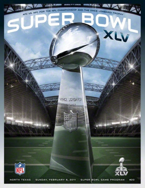 Canvas 36 X 48 Super Bowl Xlv Program Print  Derails: 2011, Packers Vs Steelers
