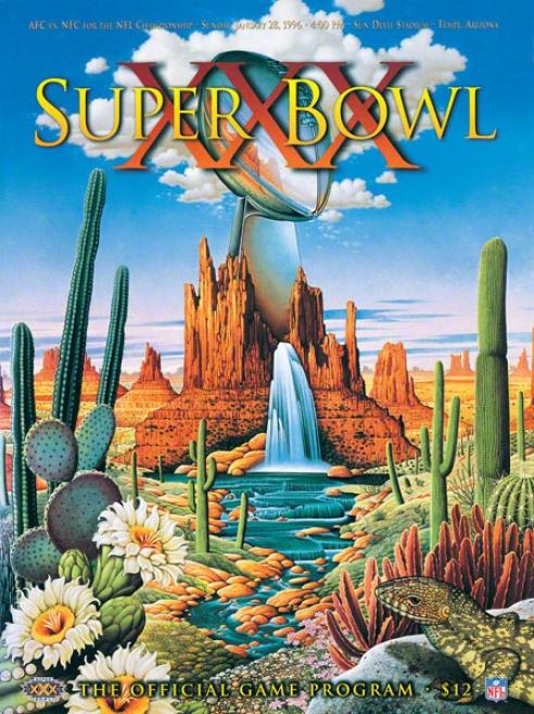 Canvas 36  X48 Super Hollow Xxx Program Print  Details: 1996, Cowboys Vs Sfeelers