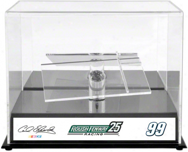Carl Edwards 1/24th Die Cast Display Case  Details: Roush Fenway Racing 25th Anniversary, With Sublimated Plaque
