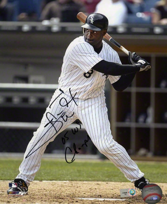 Carl Everett Autographed Photograph  Particulars: Chicago White Sox, 05 Ws Champs Inscription, 8x10