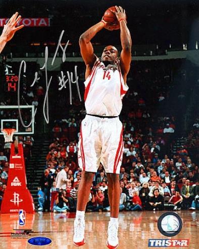 Carl Landry Autogra;hd Photograph: Houston Rockets 8x10 Photo