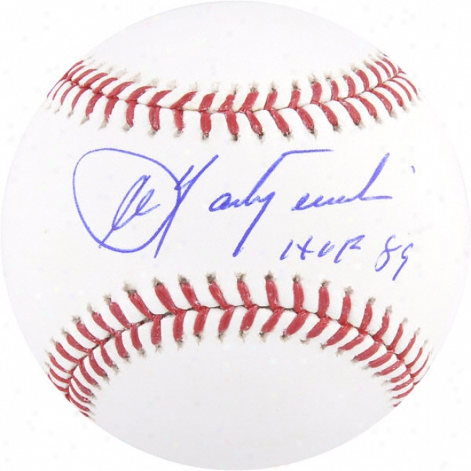 Carl Yastrzemski Autographed Baseball  Details: Hof 89 Inscription
