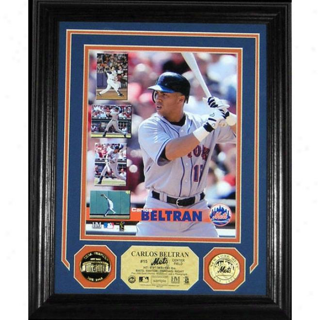 Carlos Beltran New York Mets 2005 Photo Mint