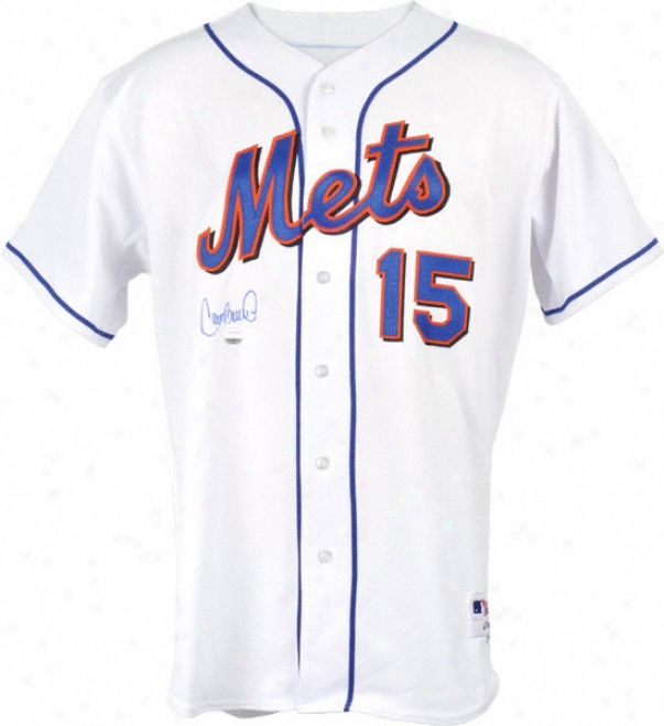 Carlos Beltran New York Mets Autographed Majestic Jdrsey