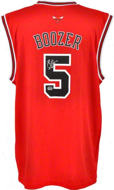 Carlos Boozer Autographde Jersey  Details: Replica, Chicago Bulls