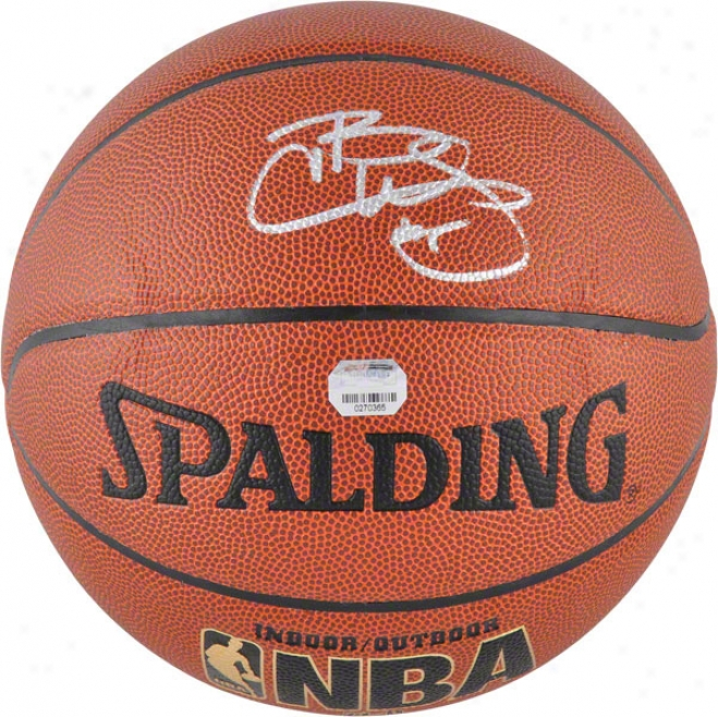 Carlos Boozer Chicago Bulls Autographed Spalding Indoor/outdoor Basletball