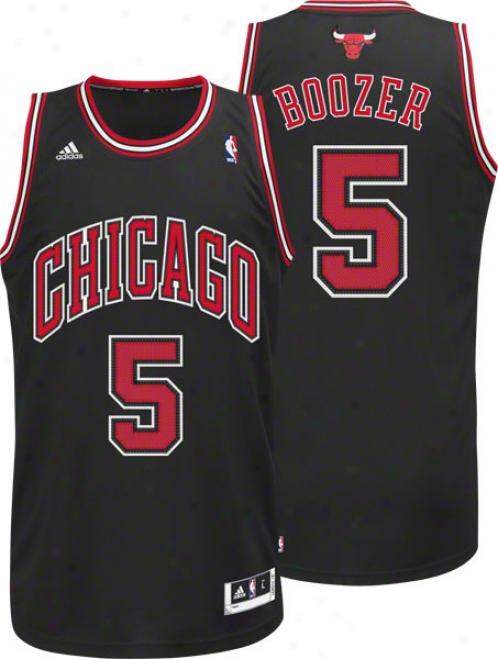 Carlos Boozer Jersey: Adidas Revolution 30 Black Swingman #5 Chicago Bulls Jersey