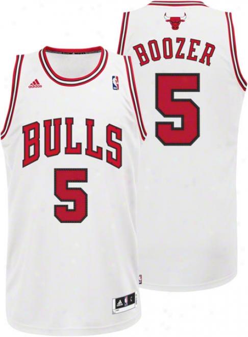 Carlos Boozer Jersey: Adidas Revolution 30 White Swingman #5 Chicago Bulls Jersey