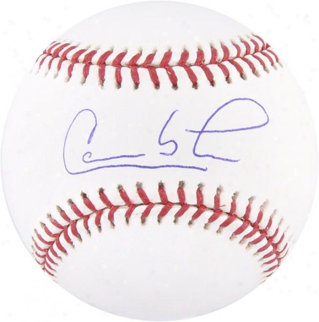 Carlos Lee Autographed Baseball