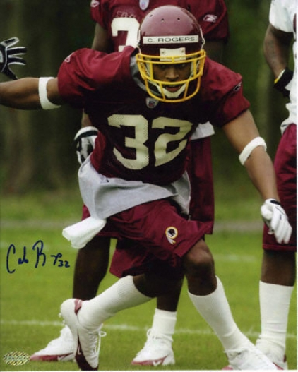 Carlos Rogers Washington Redskins 8x10 Autographed Photograph