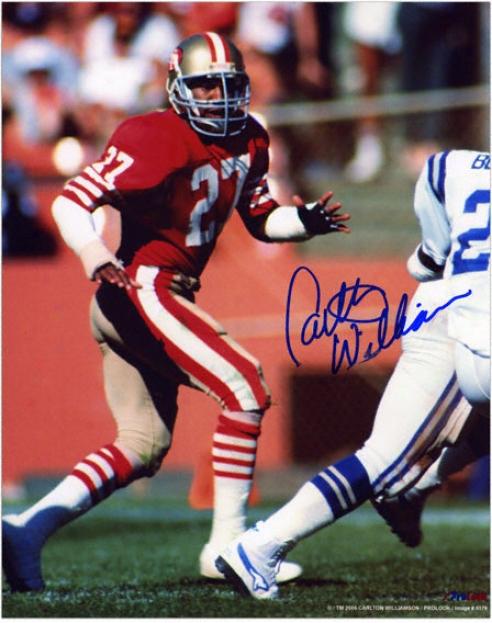 Carlton Williamson San Francisco 49ers Autographed 8x10 Photograph