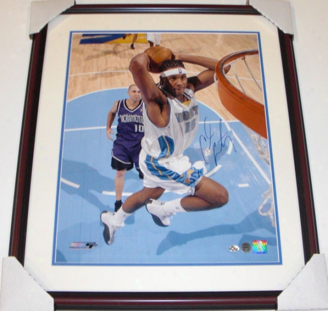 Carmelo Anthony Autographed Denver Nuggets 16x20 Photo Custom Framed