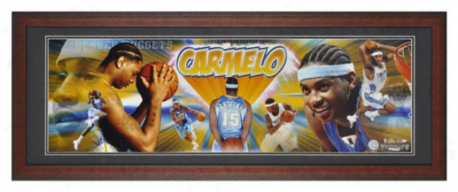 Carmelo Anthony Denver Nuggets Framed Unsigned Panoramic Photograph