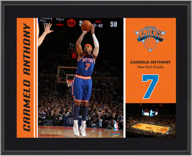 Carmelo Anthony Flat plate of metal  Details: New York Knicks, Sublimated, 10x13, Nba Flat plate of metal