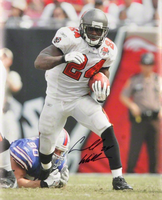 Carnell Cadillac Williams Tampa Bay Buccaneers - Action Shot - Autographed 16x20 Photograph