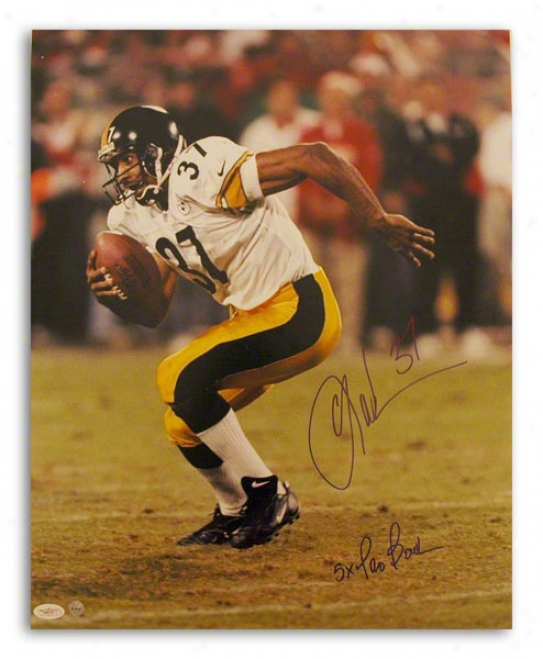 Carnell Lake Autographed Pittsburgh Steelers 16x20 Photo Inscried &quot5x Pro Bowl&quot