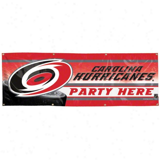 Carolina Hurricanes 2x6 Viynl Banner
