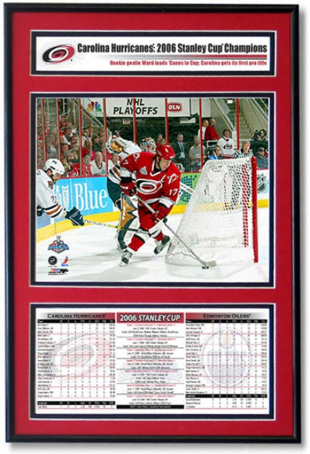 Carolina Hurricanes - Pole Brind'amour - 2006 Stanley Cup Champions Frame