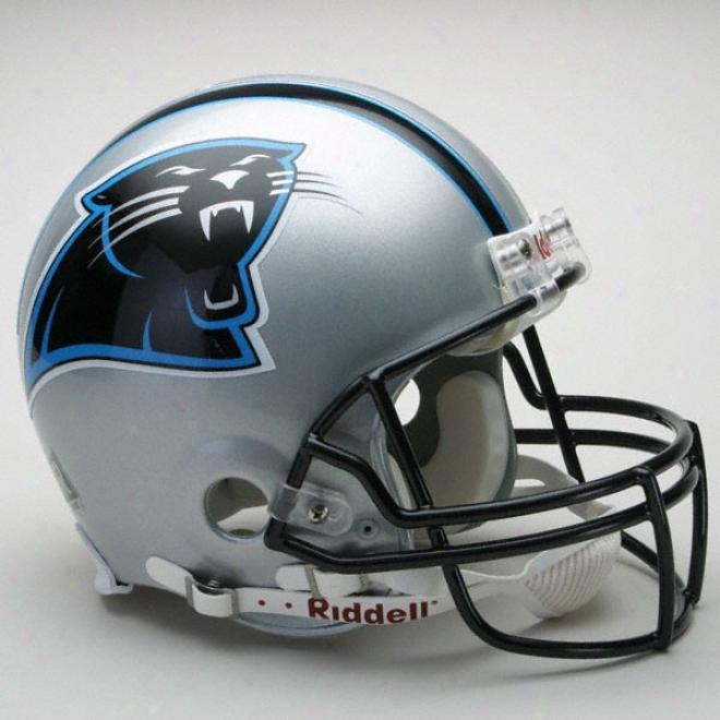Carolina Panthers Authentic Pro Line Riddell Comprehensive Size Helmet