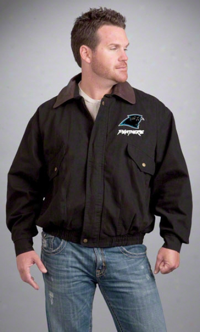 Carolina Panthers Jacket: Black Reebok Navigator Jacket