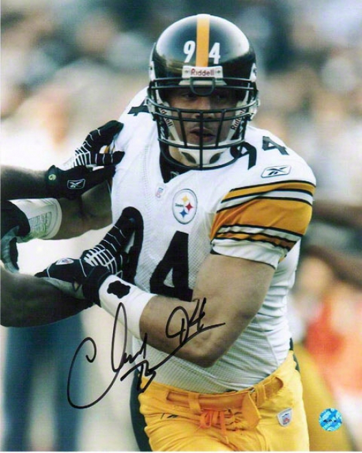 Chad Brown Pittsburgh Steelers Autographed 8x10 Photograph