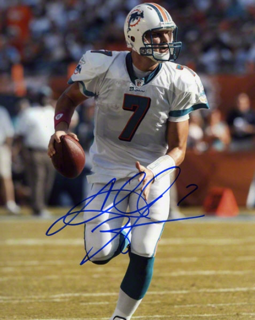 Chad Henne Autographed 8x10 Photograph  Details: Miami Dolphins, Running
