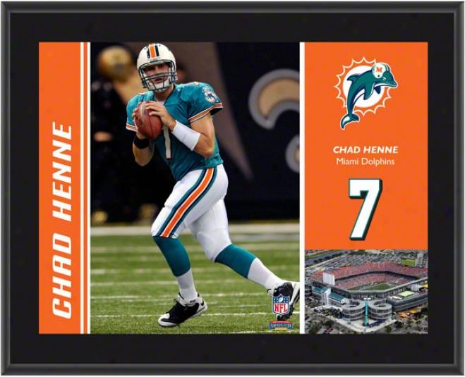 Chad Henne Plaque  Details: Miami Dolphins, Sublimated, 10x13, Nfl Plaque