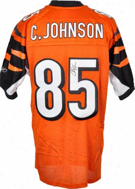 Chad Johnson Autographed Jersey  Details: Cincinnati Bengals, Reebok, Orange