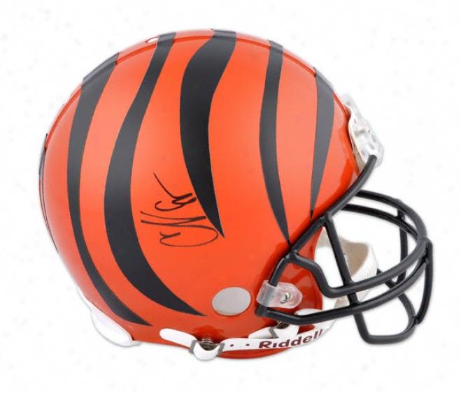 Chad Johnson Autographed Pro-line Helmet  Details: Cincinnati Bengals, Authentic Riddell Helmet