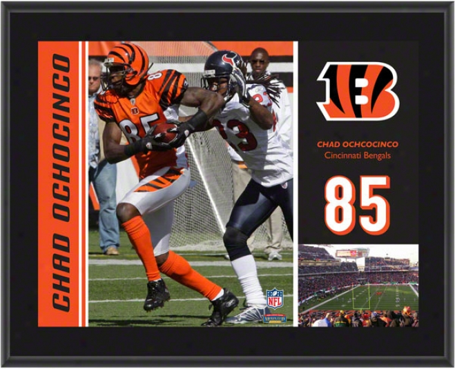 Chad Ochocinco Plaque  Details: Cincinnati Bengals, Sublimated, 10x13, Nfl Plaque