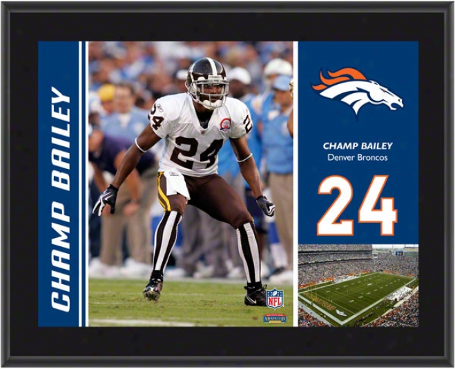 Champ Bailey Plaque  Details: Denver Broncos, Sublimated, 10x13, Nfl Plaque