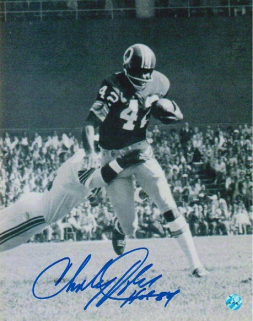 Charley Taylor Washington Redskins Autographed 8x10 Photograph With Hof 84 Inscirption