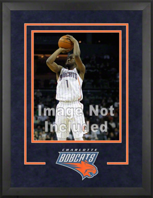 Charlotte Bobcats 16x20 Vertical Setup Frame With Team Logo