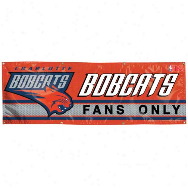 Charlotte Bobcats 2x6 Vinyl Bznner