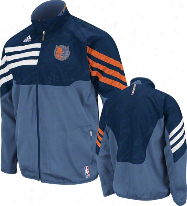 Charlotte Bobcats Blue 2011-2012 Eastern Conference On-court Warm-up Jacket