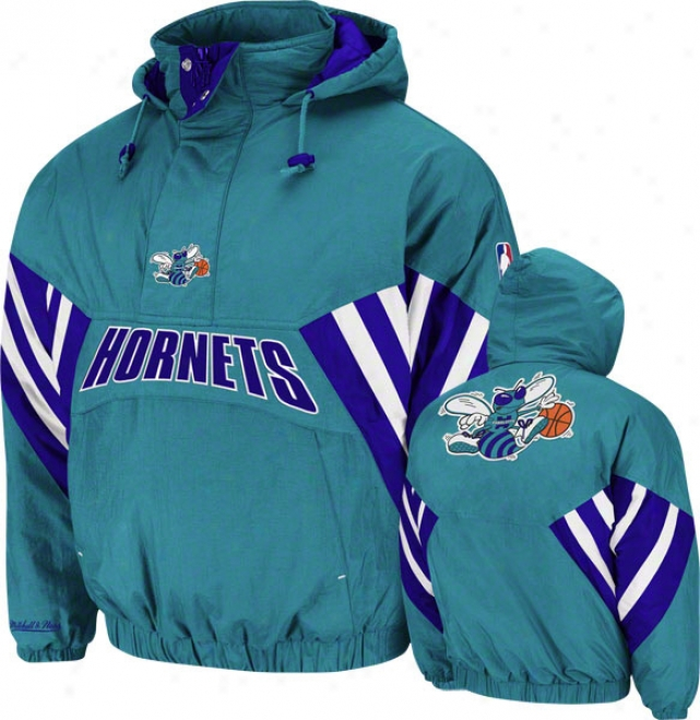 Charlotte Hornets Mitchell & Ness Vintage Flashback Pullover Jacket