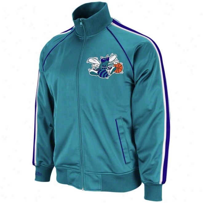 Charlotte Hornets Teal Mitchell & Ness Preseason Warmup Track Jacket