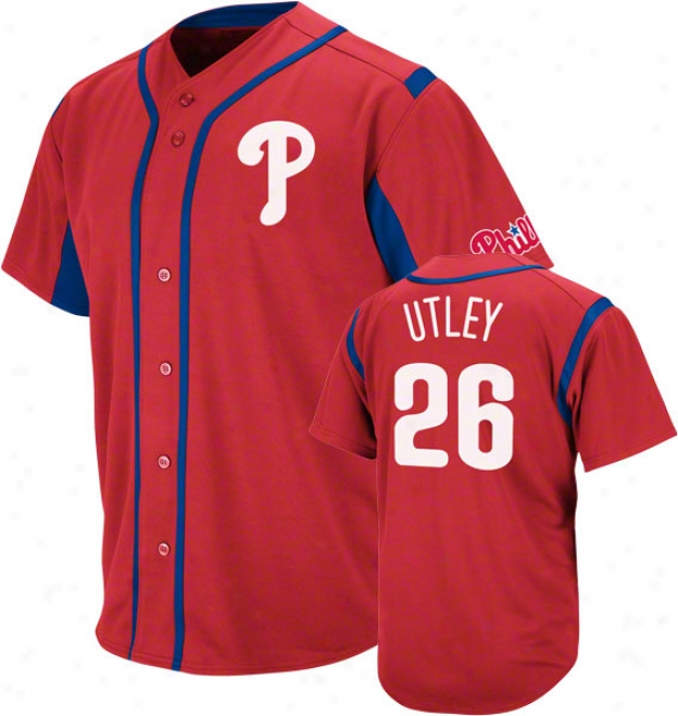 Chase Utley Philadelphia Philies Wind-up Red Player Jersey