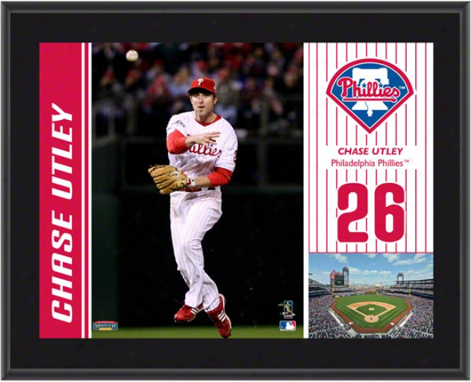 Chzse Utley Plaque  Particulars: Philadelphia Phillies, Sublimated, 10x13, Mlb Plaque