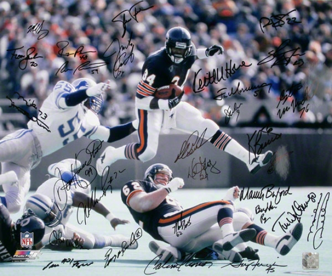 Chicago Bears 16x20 - Patron - 1985 Team Signed Autographed Photograph