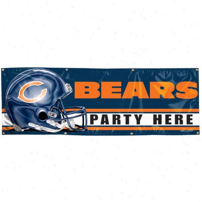 Chicago Bears 2x6 Vinyl Banner